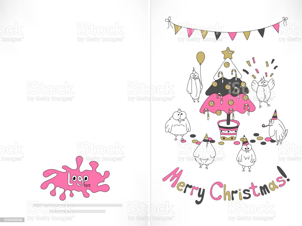 Ready To Print Christmas Card Stock Vector Art & More Images of ...