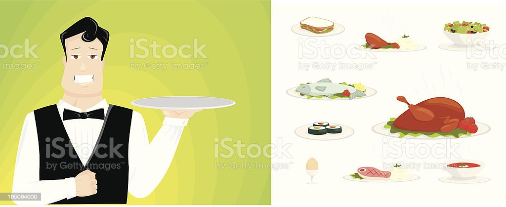 ready to serve royalty-free stock vector art