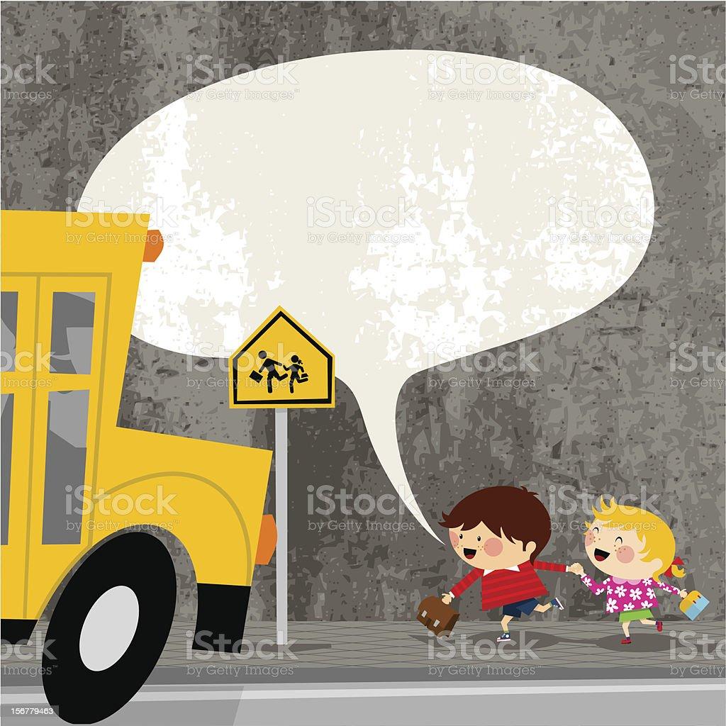 Ready to start the school. kids  vector illustration cute vector art illustration