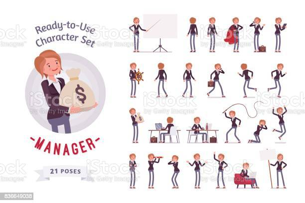 Readytouse female manager character set different poses and emotions vector id836649038?b=1&k=6&m=836649038&s=612x612&h=nmvvk7hxxah7lghvdnst766o5a68spzlmjzhc t7v9i=