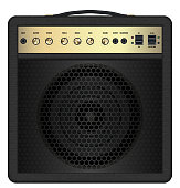 istock real classic black guitar amplifier vector 641247768