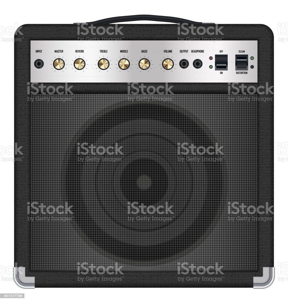 real classic black guitar amplifier vector