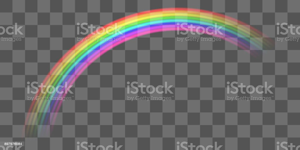 curva transparente verdadero colorido arco iris vector eps - ilustración de arte vectorial