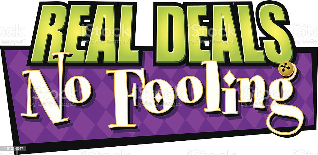 Real Deals Heading C vector art illustration