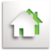 real estate 3d vector green background