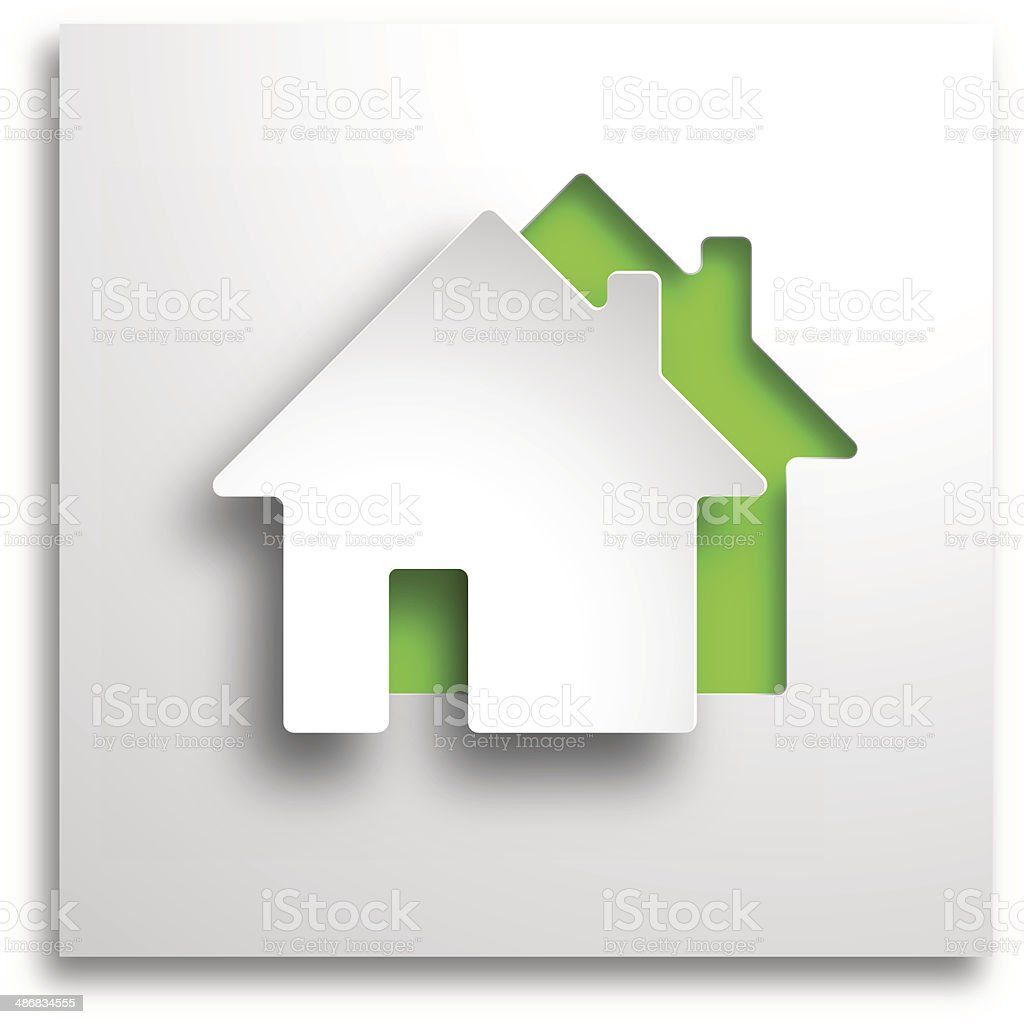 real estate 3d vector green background vector art illustration