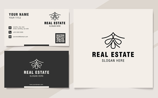 Real estate abstract luxury line symbol template