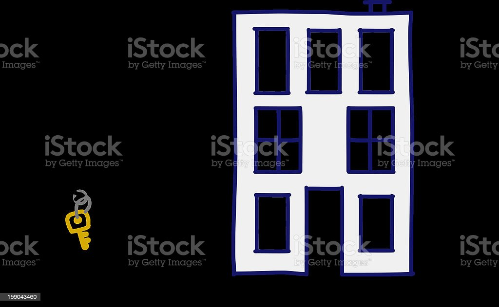 real estate agent & building royalty-free stock vector art