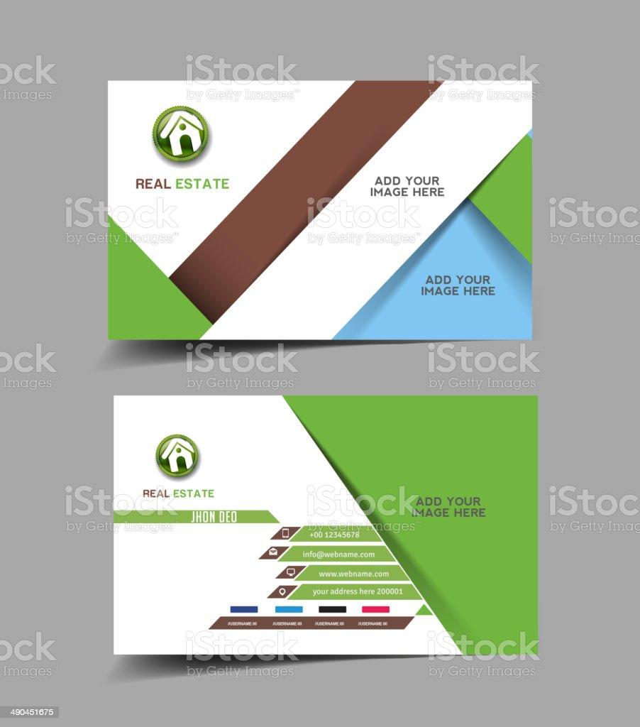 Agent Immobilier Carte De Visite Vecteurs Libres Droits Et