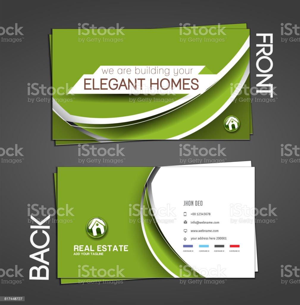 Agent Immobilier Carte De Visite Cliparts Vectoriels Et Plus D