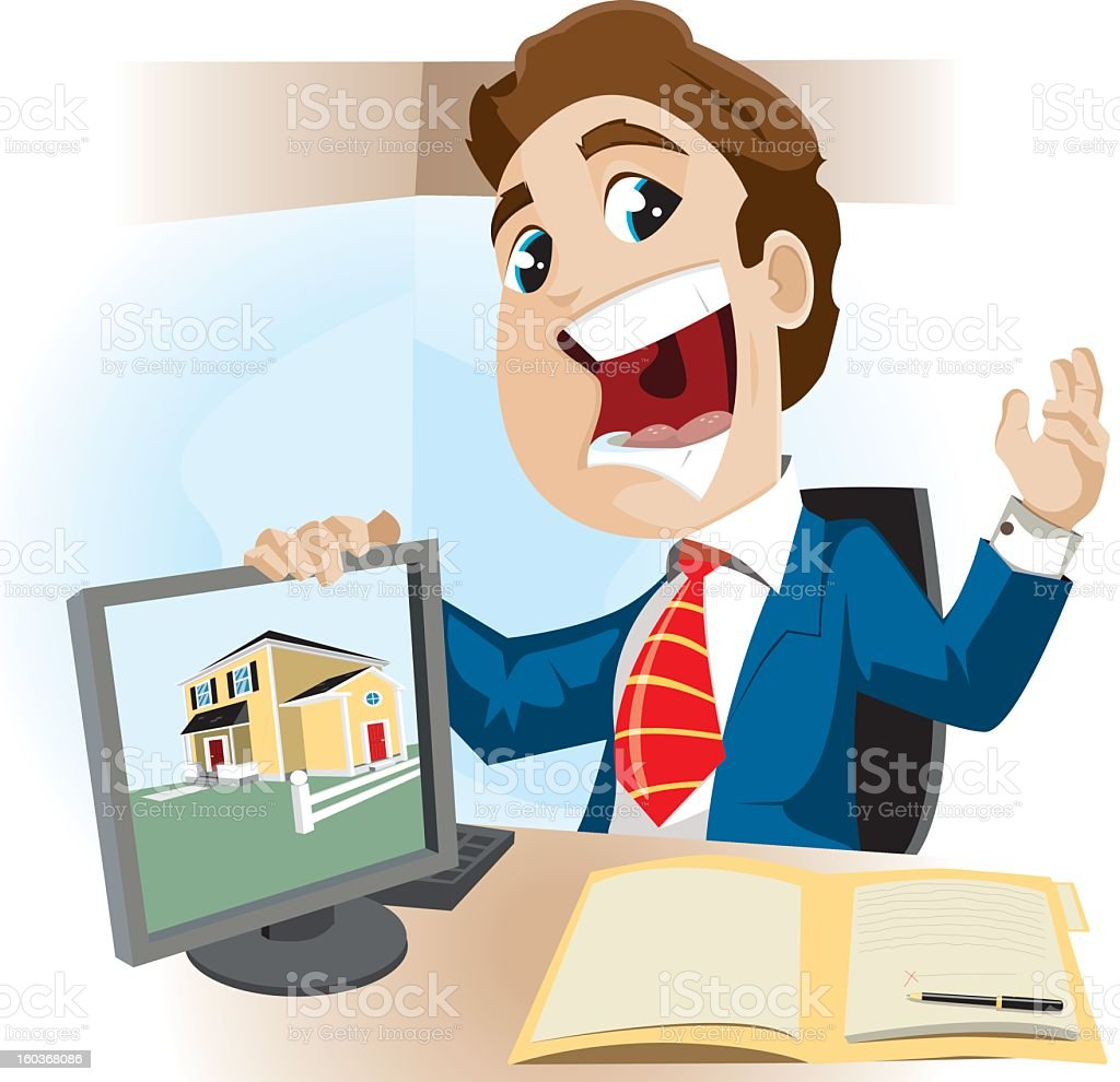 Real Estate Agent vector art illustration