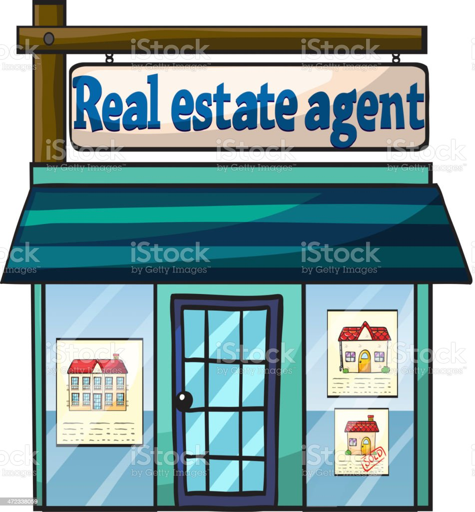 Real estate agent's office royalty-free stock vector art