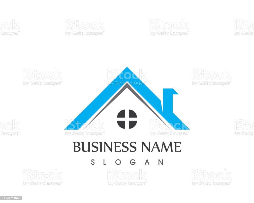Real estate and building home logo vector art illustration