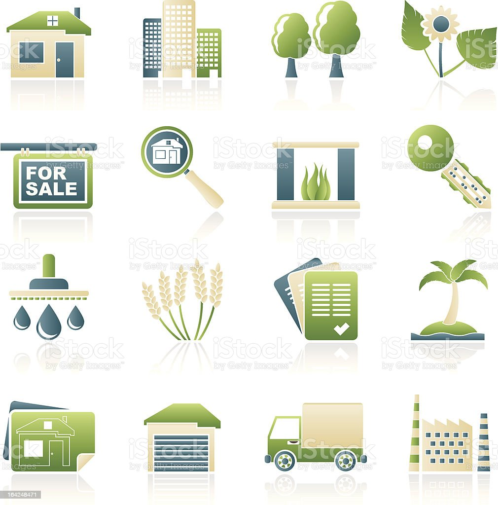 Real Estate and building icons royalty-free real estate and building icons stock vector art & more images of agreement