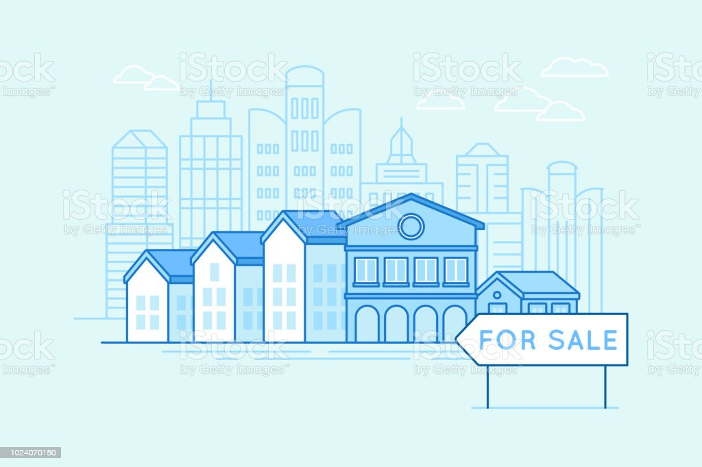 Real estate and mortgage concept vector art illustration