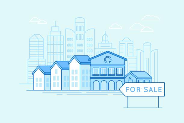Immobilien und Hypotheken-Konzept – Vektorgrafik