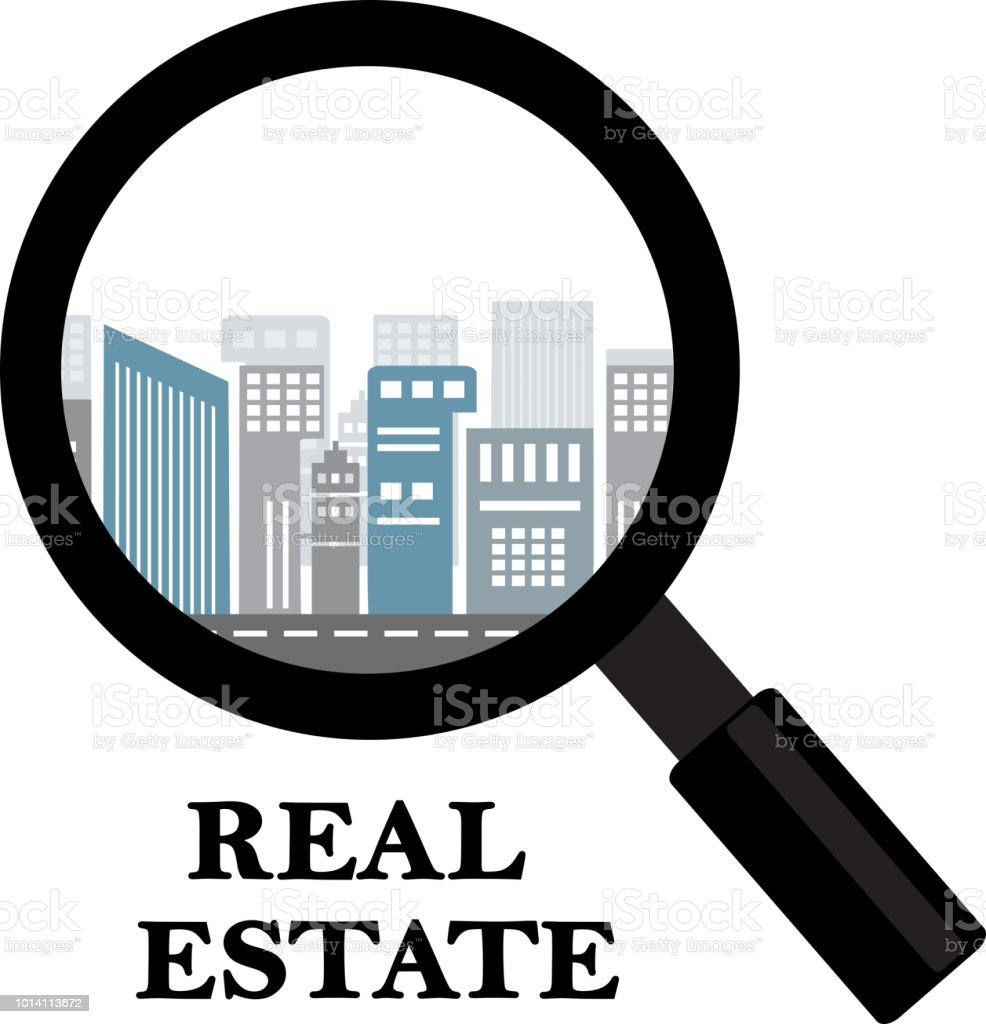 real estate and rental of buildings vector art illustration