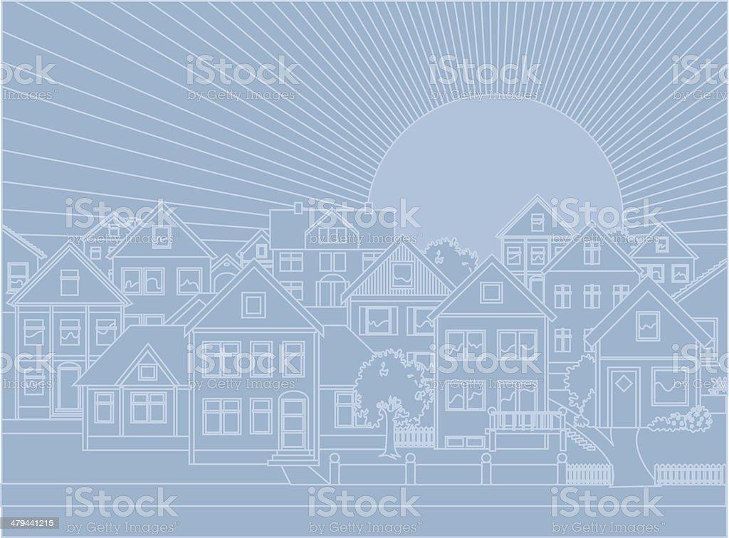 Real estate background vector art illustration