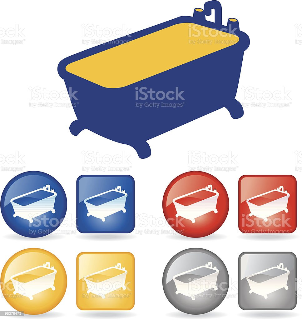 Real Estate- Bathroom royalty-free real estate bathroom stock vector art & more images of bathtub