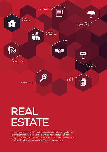 Real Estate. Brochure Template Layout, Cover Design