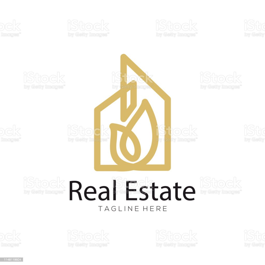 Real Estate Building Construction Logo And Icon Stock
