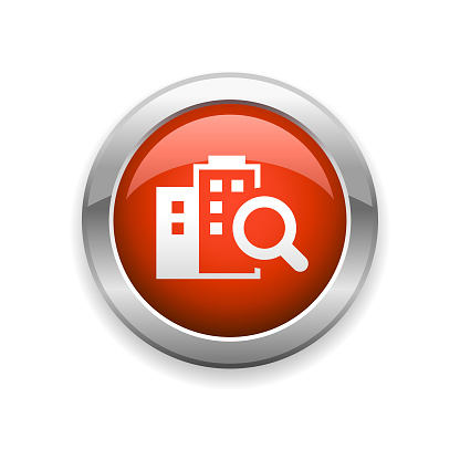 Real Estate Building Glossy Icon