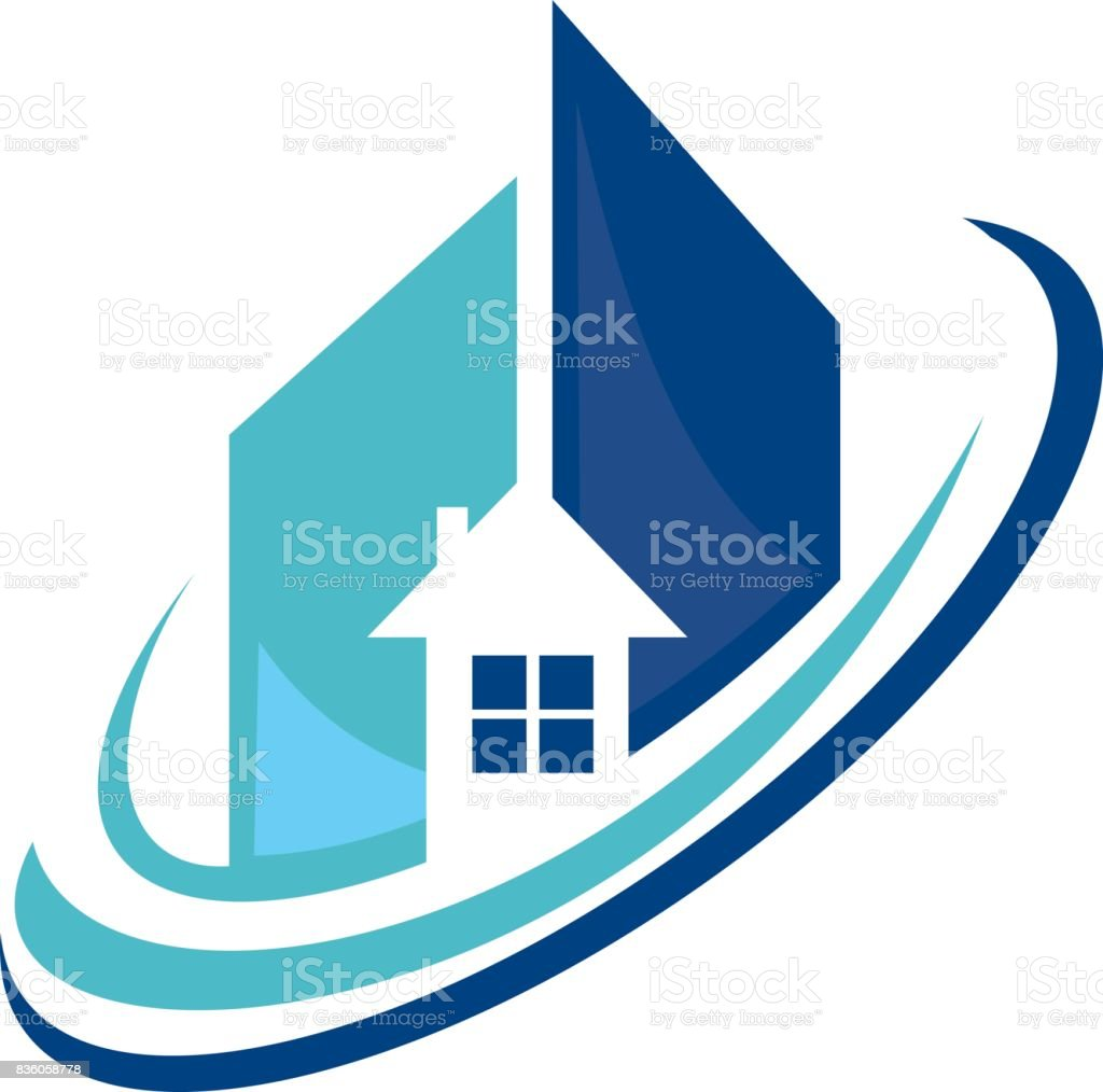 Real Estate Company vector art illustration