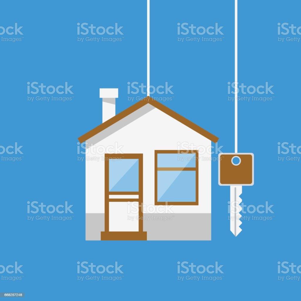 Real Estate concept House with key real estate concept house with key - immagini vettoriali stock e altre immagini di affari royalty-free