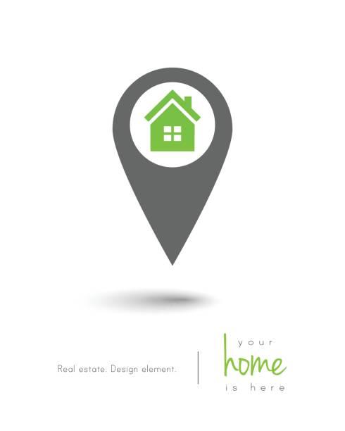 illustrations, cliparts, dessins animés et icônes de concept immobilier  - logos immobilier