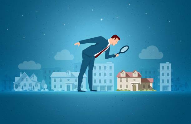 illustrazioni stock, clip art, cartoni animati e icone di tendenza di real estate concept vector illustration - real life