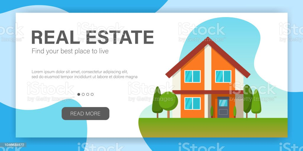 real estate concept web page design template stock vector art more