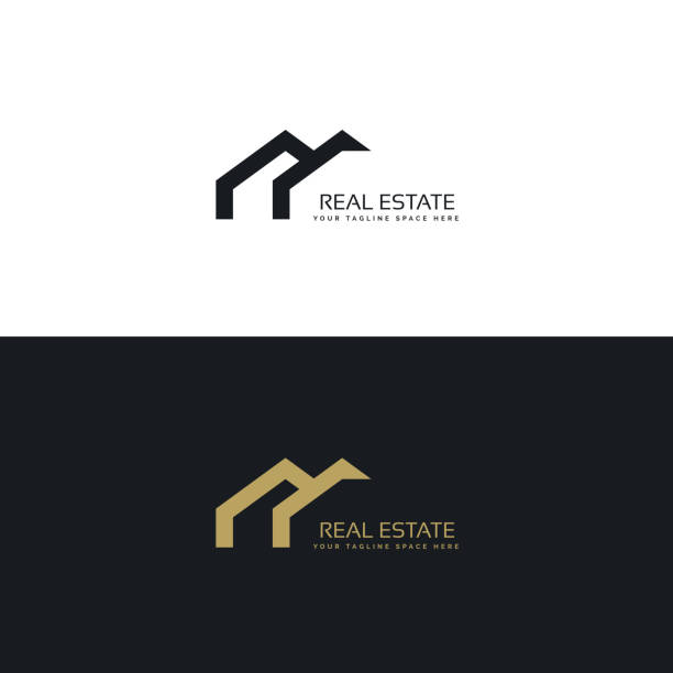 real estate creative  design in minimal style real estate creative  design in minimal style home ownership stock illustrations