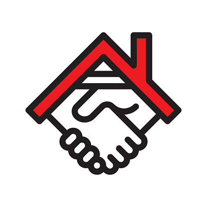 Real estate deal line icon