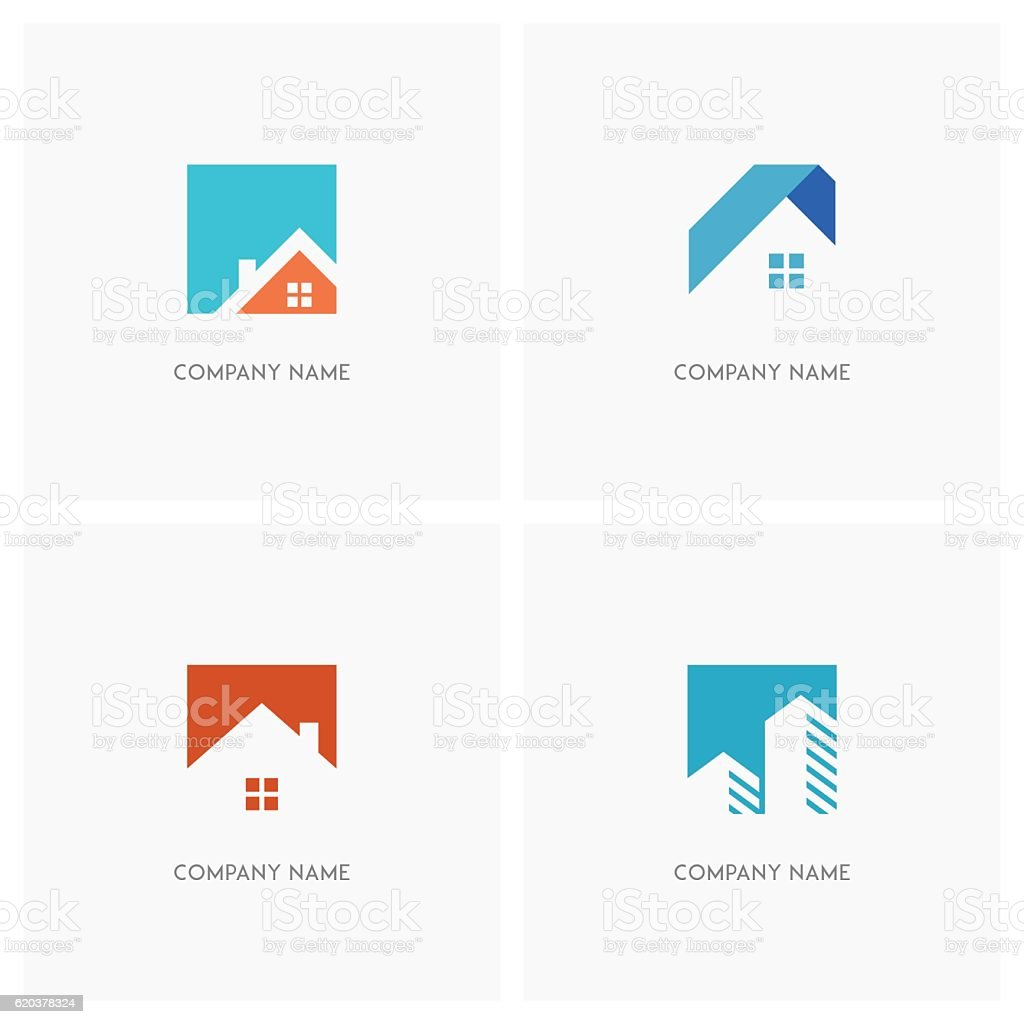 Real estate design element vector art illustration