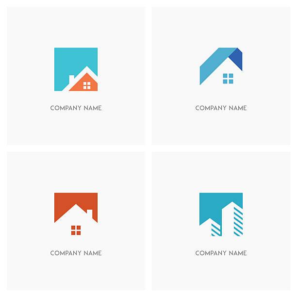 ilustraciones, imágenes clip art, dibujos animados e iconos de stock de real estate design element - nueva casa