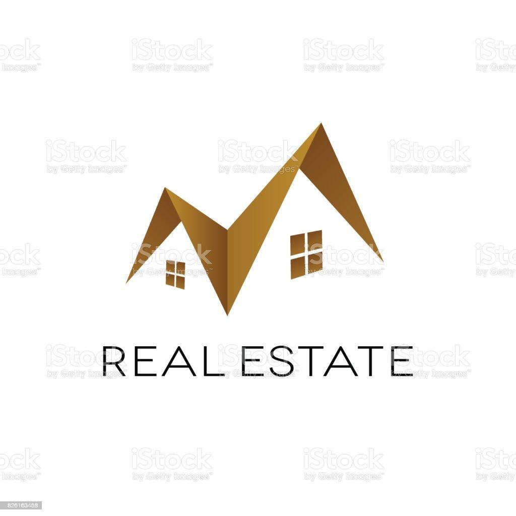 Forme De Toit création de logo immobilier forme de toit isolé illustration