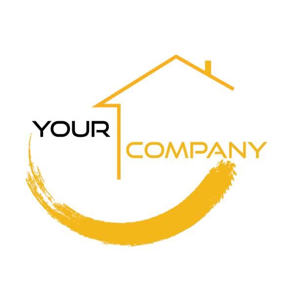 illustrations, cliparts, dessins animés et icônes de immobilier de design - logos immobilier