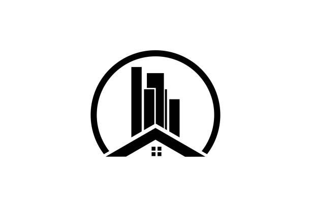 real estate design vector - real estate logos stock illustrations, clip art, cartoons, & icons