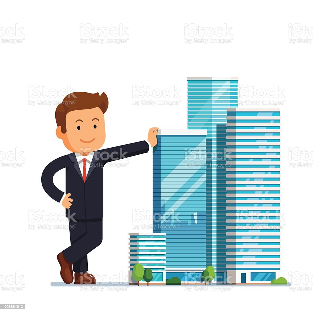 Real estate developer entrepreneur concept vector art illustration
