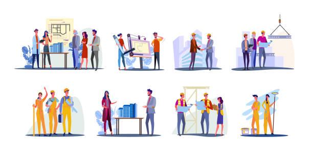 房地產開發集 - construction 幅插畫檔、美工圖案、卡通及圖標