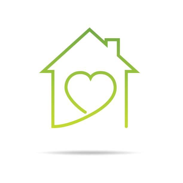 Real Estate, Eco House design vector vector art illustration
