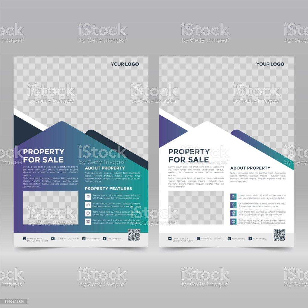 Real Estate Flyer Design Template Stock Illustration Download