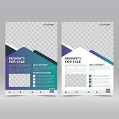 Real estate flyer design template vector illustration