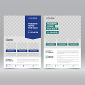 istock Real estate flyer template 1291316328