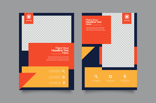Real Estate Flyer with minimal geometric design