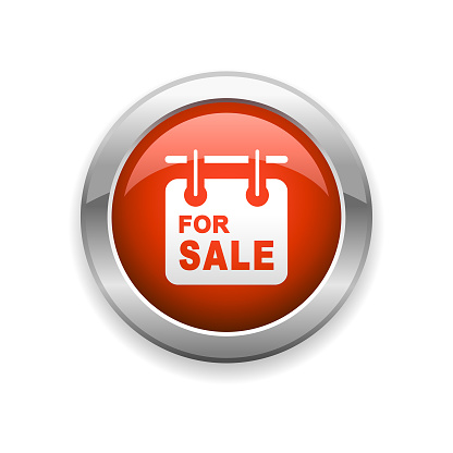 Real Estate for Sale Glossy Icon