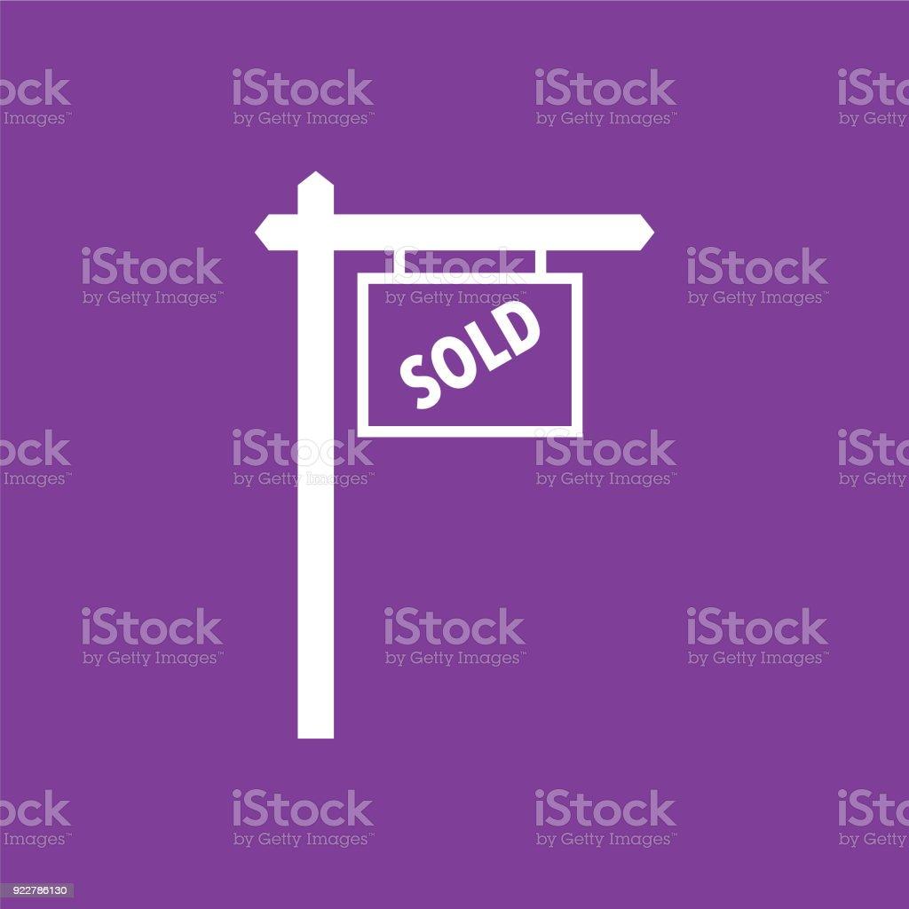 Imóveis para ícone vendido - ilustração de arte em vetor