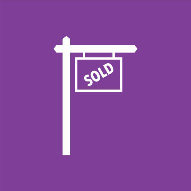 real estate for sold icon - sprzedawać stock illustrations