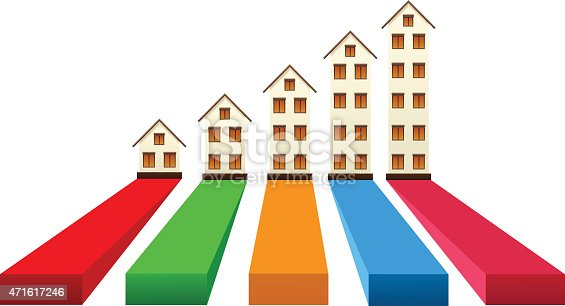 Real estate growth , vector illustration