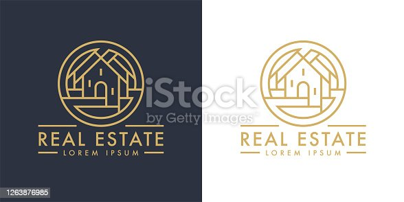 istock Real estate home line icon 1263876985